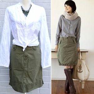 Eddie Bauer Khaki Cargo Skirt Size 2